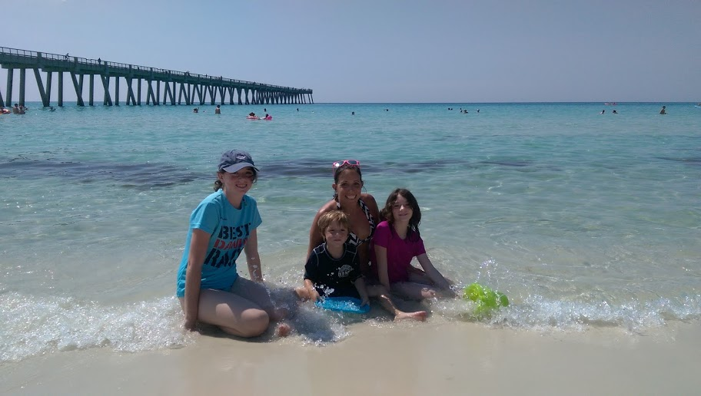 family at Florida beach