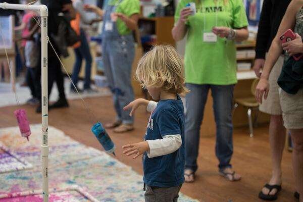 Pendulum painting at St. Pete STEAMfest