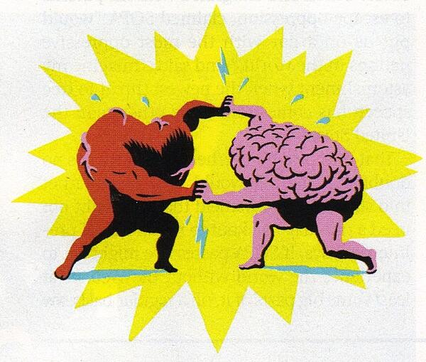 Heart vs Brain fight