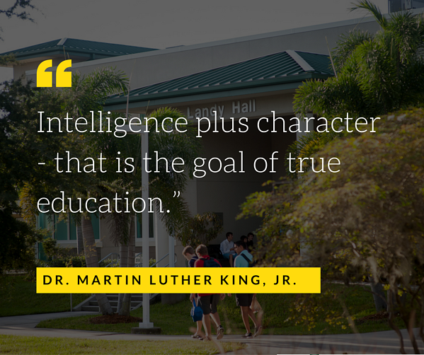 Character Education in Independent Schools - MLK Quote