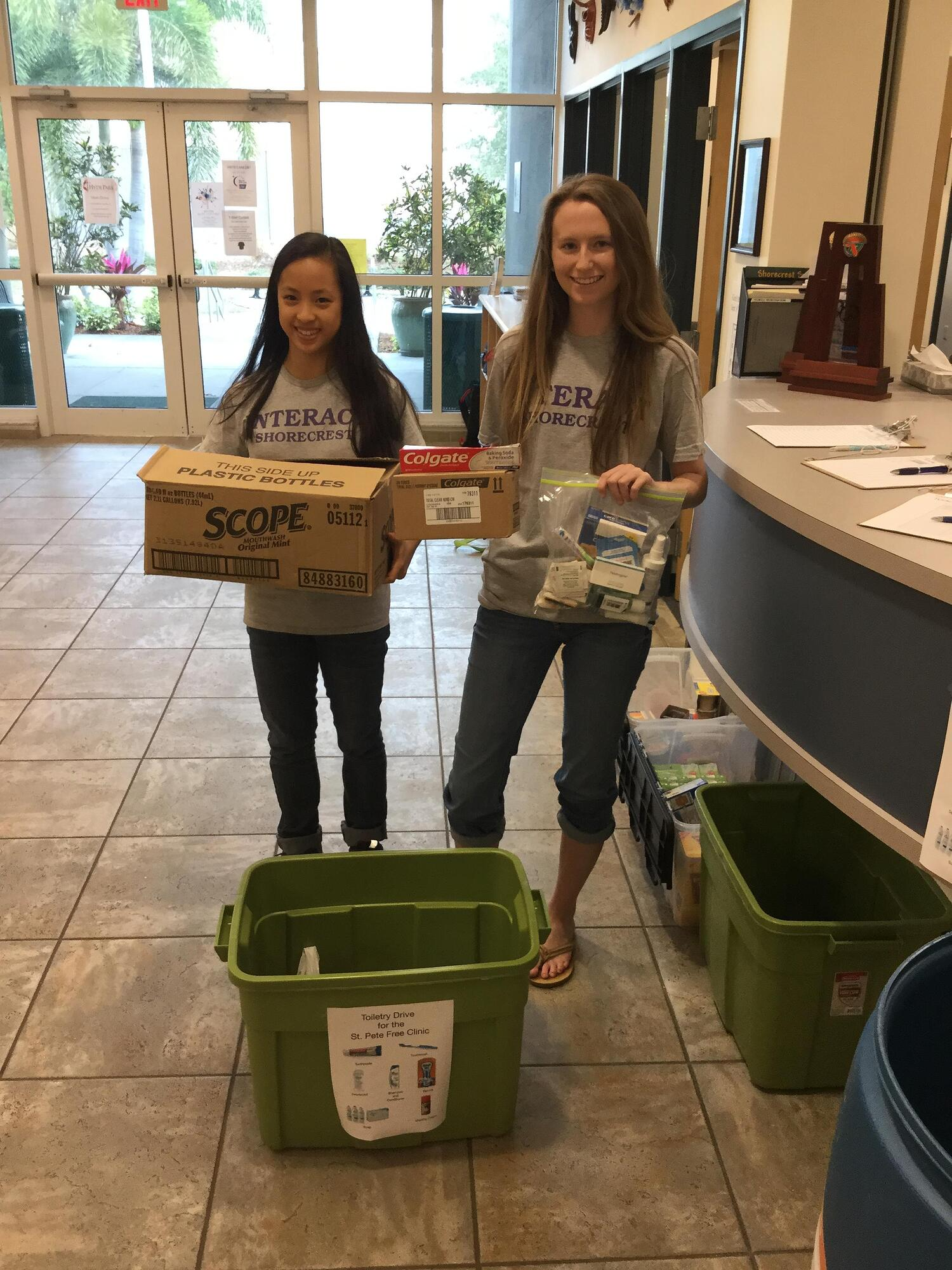 Students Collect Necessities for the St. Pete Free Clinic