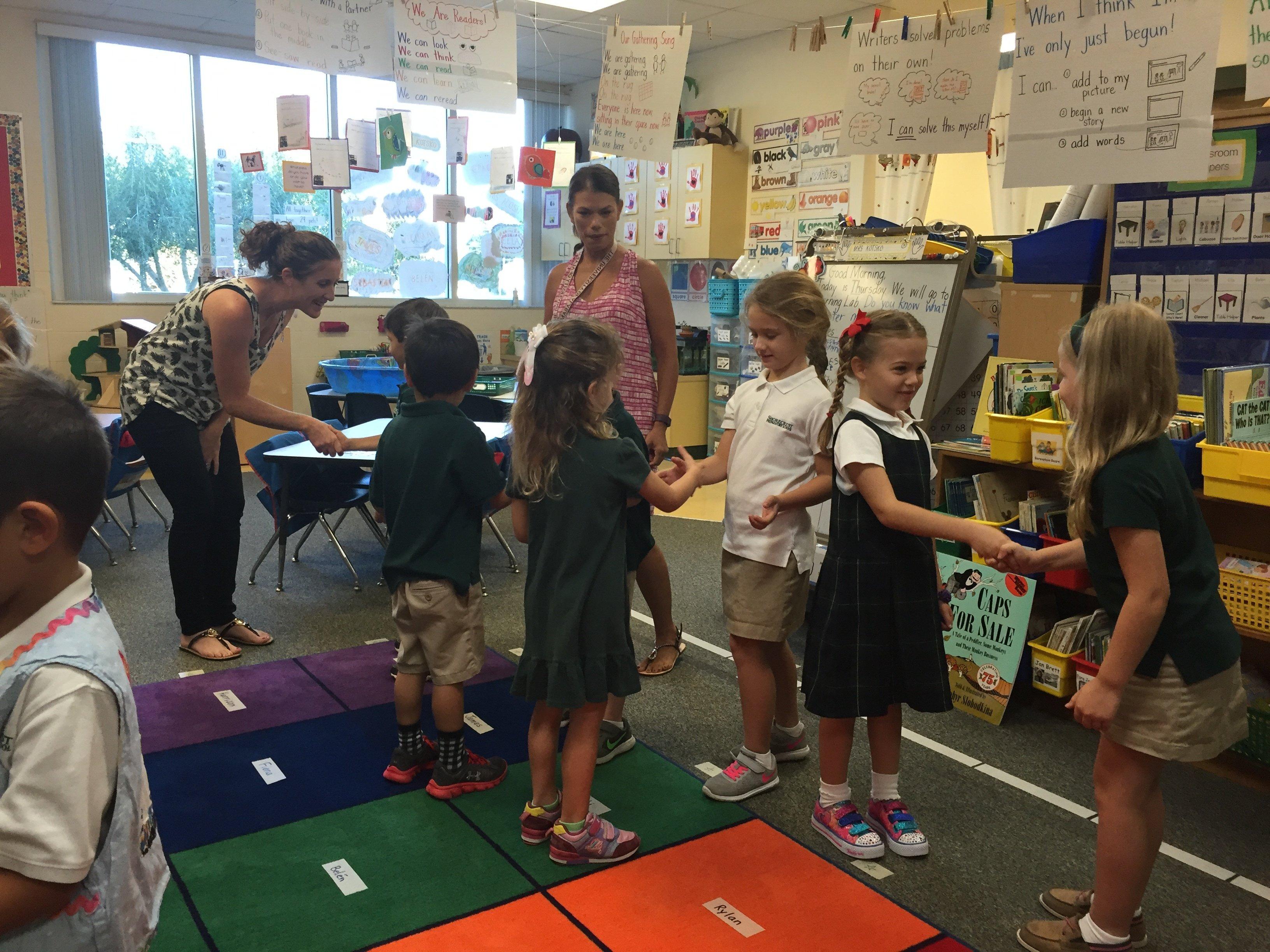 Shorecrest kindergarten Morning Meeting responsive classroom