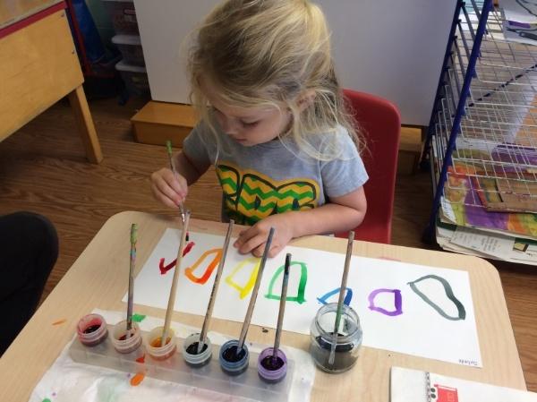preschool painting art