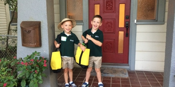 first day of preschool at shorecrest