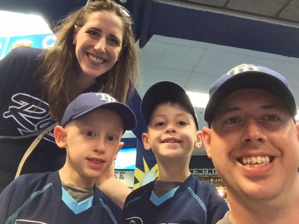 taking our children to a rays game in Florida