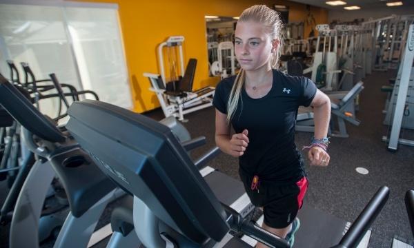 private school student athlete training