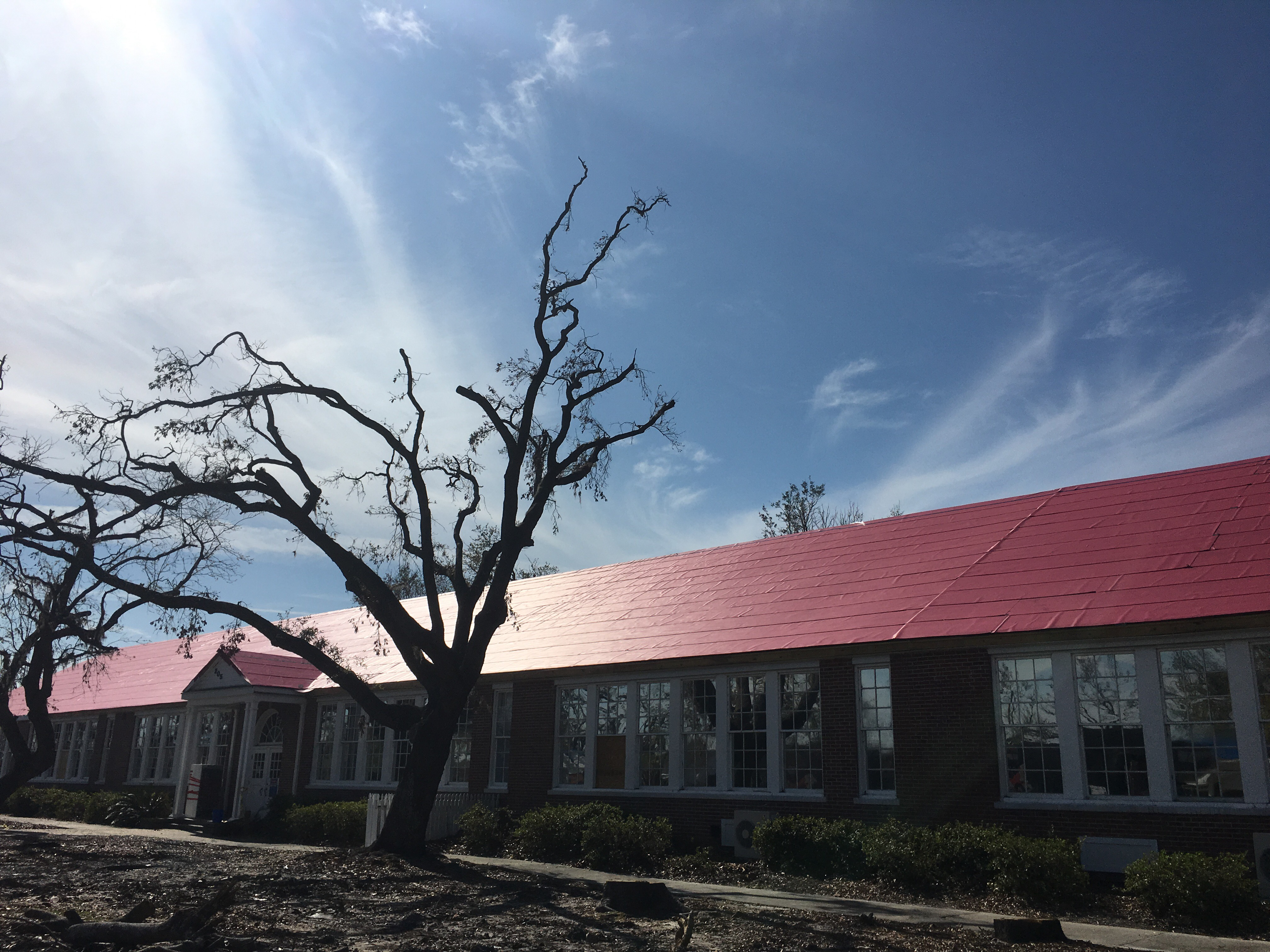 Holy Nativity Episcopal School after Hurricane Michael